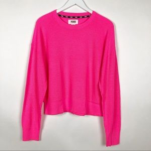 VS PINK SLOUCHY CREW SWEATER LARGE NWT